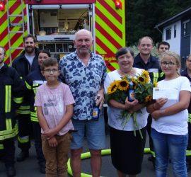 Einsatzübung der Feuerwehr Neuenhasslau auf Goldener Hochzeit