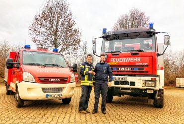 Fahrzeugtausch und neuer Schlauchwagen bei der Feuerwehr Hasselroth